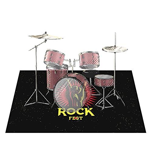 PPGE Home Schlagzeugteppich, Schlagzeug Teppich, Drum Teppich, Schallschutzmatte Trommel, Bass Drum Snare Rug, Drums Matte, Elektronische Trommel Jazztrommel Klavier Schallschutz TeppichC-160x120cm