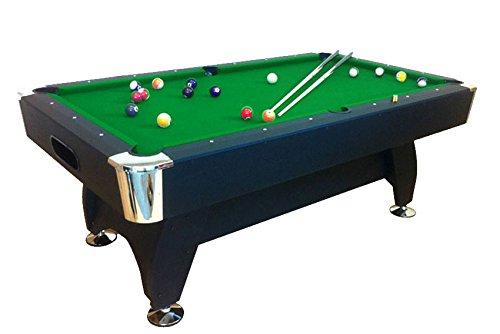 GRAFICA MA.RO SRL 7Ftpool Tabla Modelo Gren Estación de billar que juega Juego de tela interior Deportes Mesa de billar Nueva para Verde