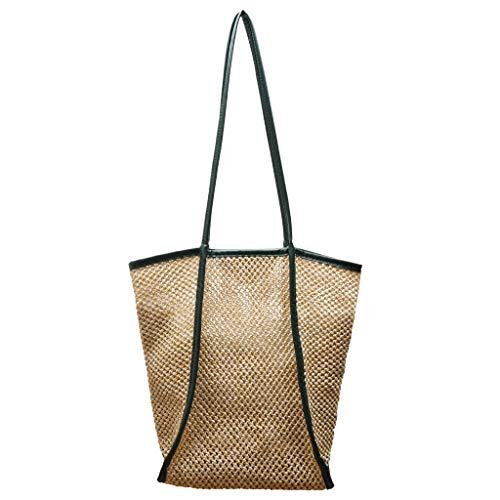 Bolso de tela para mujer, estilo vintage, para la playa, monocromático, bolso de mano, bolso de tela, bolso de la compra, bolsa de viaje, equipaje de mano, hobos