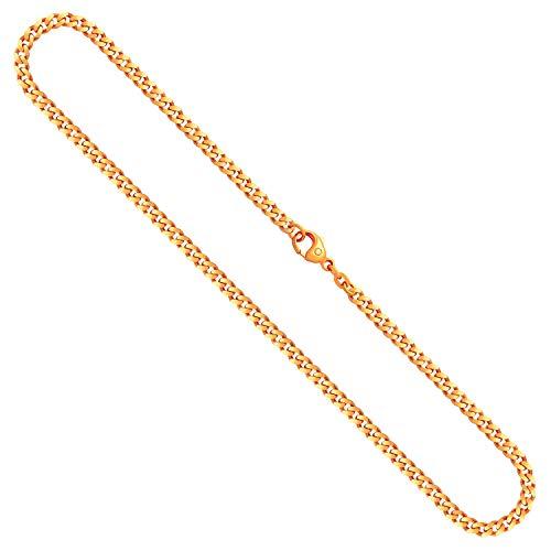 Goldkette, Panzerkette flach Gelbgold 585/14 K, Länge 60 cm, Breite 4.1 mm, Gewicht ca. 27.4 g, NEU