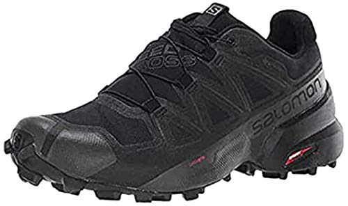 Salomon Women's Speedcross 5 GTX W Trail Running, Black/Black/Phantom, 7.5