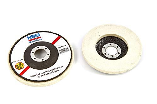 HBM 115 mm Disque de polissage pour meuleuse d'angle
