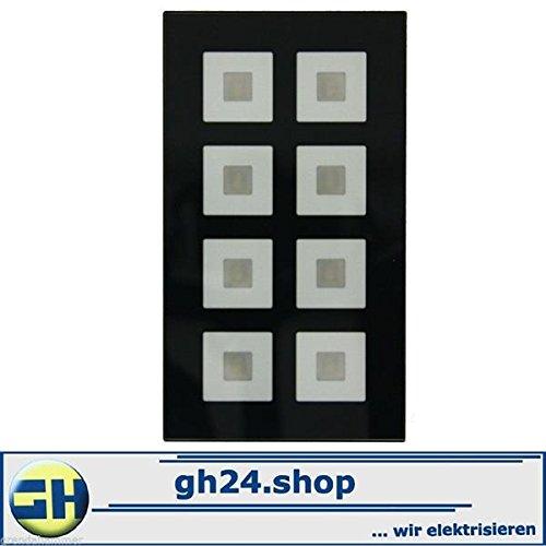 MDT TECHNOLOGIES Glastaster 8 fach schwarz, KNX EIB,BE-GT08S.01 mit Busankoppler