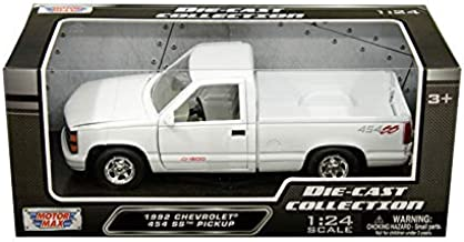 Motor Max 1992 Chevy 454 SS Pickup Truck, White 73203WH - 1/24 Scale Diecast Model Toy Car