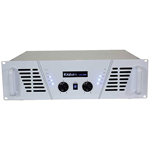 Ibiza Sound 5420047112989 - Amplificador 2 x 800 W, color blanco