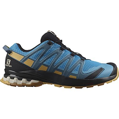 Salomon XA Pro 3D V8 Hombre Zapatos de trail running, Azul (Barrier Reef/Fall Leaf/Bronze Brown), 40 EU