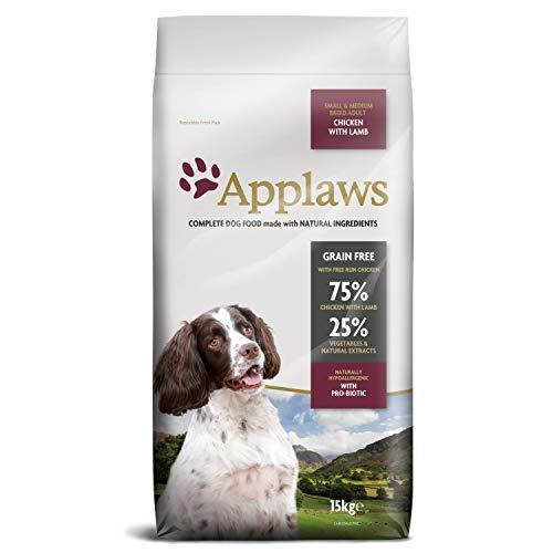 Applaws Hund Trockenfutter Lamm, kleine & mittelgroße Hunde, 1er Pack (1 x 15 kg)