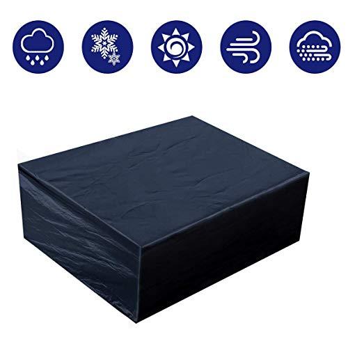 Housse de protection rectangulaire pour meubles de jardin - En tissu Oxford imperméable et résistant