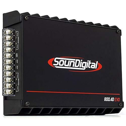 Amplificatore SounDigital 800.4D Evo 4 Canali 800 Watt rms su 1Ω / 4x110 Watts RMS 2 Ω full Range classe D Versione 2Ω che su 4 canali è stabile a 1 ohm