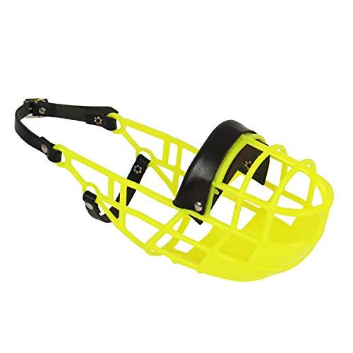 Muso Don Pare Modello 101 in Neon Yellow sempre possibile bere, ideale per il free running, canile, gabbia, corse di cani, auto, protezione delle esche velenose per Amathings