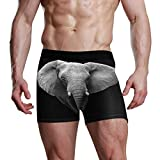 SUABO Mens Boxer Briefs Elephant Underwear 1 Pack Mens Underwear for Valentines L