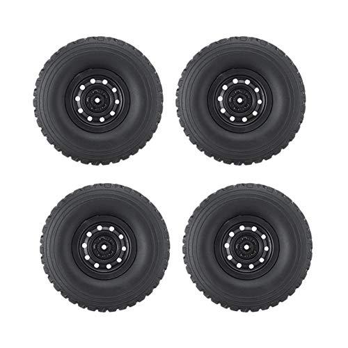 HUANRUOBAIHUO Rc Rueda de coche aplicable a Wpl C34 1/16 4Wd para JJRC Mn Buggy Crawler Off Road 2Ch modelos (color negro)