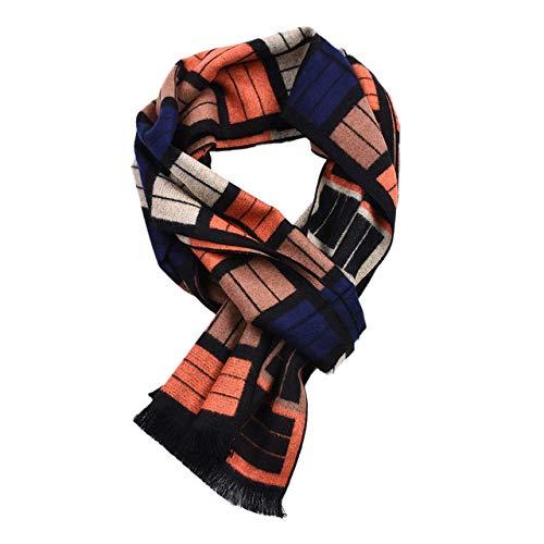 WNFDH sjaal Mode Ontwerp Casual Sjaals Winter Heren gift katoen Sjaal Merk zacht Warm Kleur grid nekchief mannelijke