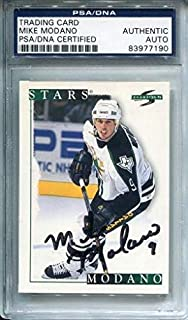 Mike Modano Autographed 1995 Score Card (PSA) - Hockey Slabbed Autographed Cards