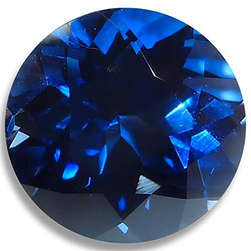 Optima Gem Lab Saphir Blau Brillant Rund Lose Nicht Gesetzt Gem 6mm Dunkelblau