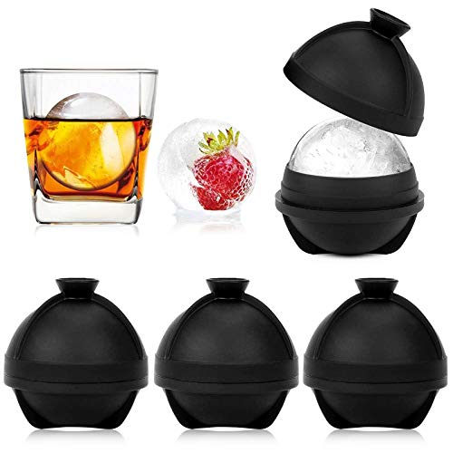 3 Stück Silikonform Ice Ball,Eiswürfelform aus Silikon,Runde Ice Ball Formen,Eiswürfelform Kugel,Ice Balls Tray,Eisbälle Maker,Eiskugelform Silikon,Silikon-Eisform für Ice Balls,Bier,Cocktails,Whisky