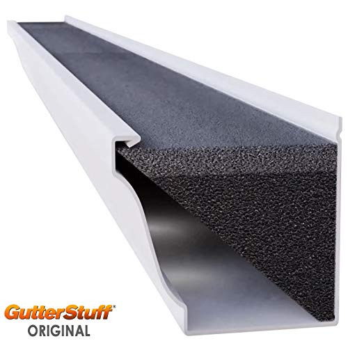 GutterStuff Guard 5-Inch K Style Foam Gutter Filter Insert with Year Round Leaf Protection & Easy DIY Installation,...