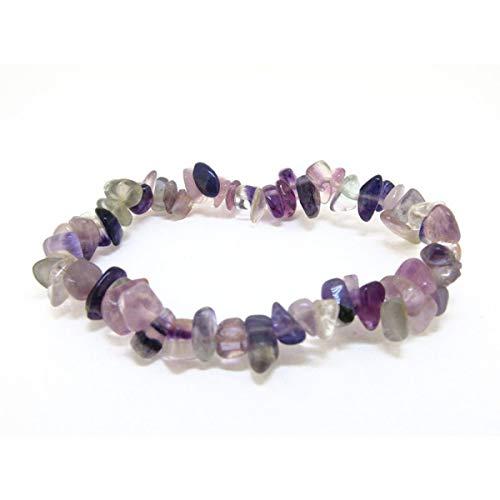Pulsera Chip de Fluorita Arco Iris. Minerales y Cristales, Belleza energética, Meditacion, Amuletos Espirituales