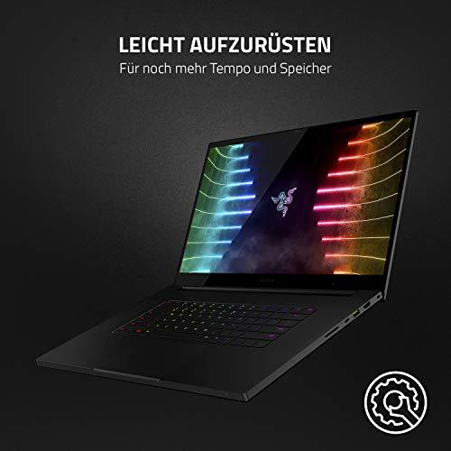 Razer Blade Pro - 17,3 Zoll Gaming Laptop mit 360 Hz Full HD-Display (Intel i7-10875H 8-Kern-Prozessor, NVIDIA GeForce RTX 3060, 16 GB DDR4 RAM, 512 GB SSD, Chroma RGB) Qwertz DE-Layout, Schwarz