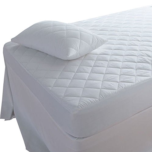 Highliving  Quilted Mattress Protector Cover, Double 137cmx190cm(30CM DEEP)