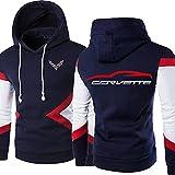 Sudadera con Capucha para Hombre Pullove Corvette Printed Sweatshirt Chaqueta con Capucha Unisex de Manga Larga Informal con Capucha - Regalo para Adolescentes