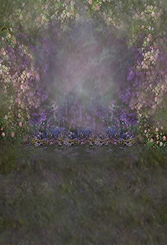 Fondo de fotografía Abstracta Pintura al óleo Flores Retrato Maternidad cumpleaños recién Nacido bebé Foto Estudio telón de Fondo A14 10x10ft / 3x3m