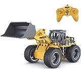 fisca rc LKW Legierung schaufellader Traktor 2,4g funksteuerung 4 Rad Bulldozer 4wd frontlader baufahrzeug elektronisches Spielzeug Spiel Hobby Modell mit licht und Sounds