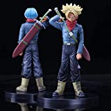 KIJIGHG 2 Unids Dragon Ball Z Trunks Future Carrying Sword Blue Gold Hair Style Figura DBZ Goku Supe...