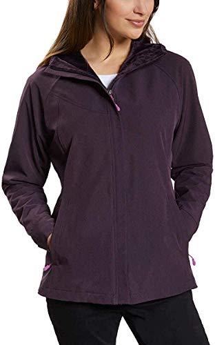 Kirkland Signature Ladies Water-Repellent Wind Resistant Softshell Jacket (XXL, Plum Heather)