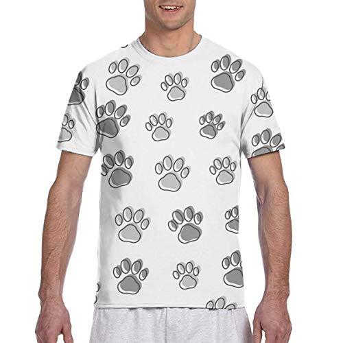 Colorido Animal Paw Prints Seamless Full 3D Impreso Camiseta Plus Size Cool Printing Top Blusa L