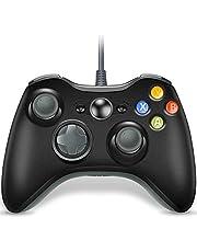 VOYEE コントローラー交換 Xbox 360 アップグレードされた有線コントローラー Microsoft Xbox 360 & Slim/PC Windows 10/8/7対応 (グレー&ブラック)