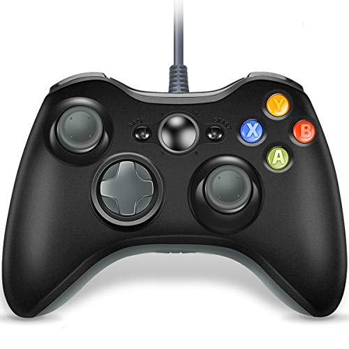 VOYEE Wired Controller for Microsoft Xbox 360 & Slim/PC Windows 10 8 7 | Upgraded (Black & Gray)