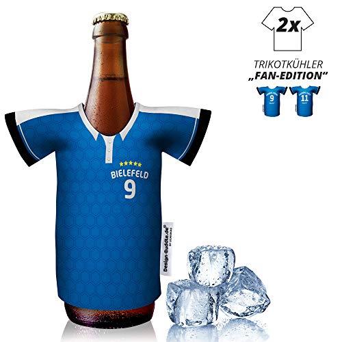 vereins-Trikot-kühler Home für Armina Bielefeld-Fans | 2er Fan-Edition| 2X Trikots | Fußball Fanartikel Jersey Bierkühler by Ligakakao