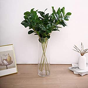 Efavormart Pack of 2-26″ Green Lemon Leaf Spray, Artificial Greenery for Bouquet, Centerpiece, Party, Flower Arrangements, Backdrops Decorations