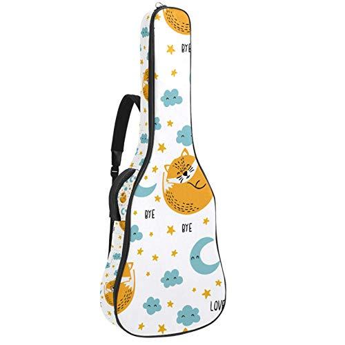 Paquete de guitarra acústica para principiantes, tamaño completo, tapa de abeto recortada, bolsa para guitarra acústica, Collapse Foxes Blue Moon Cloud Stars