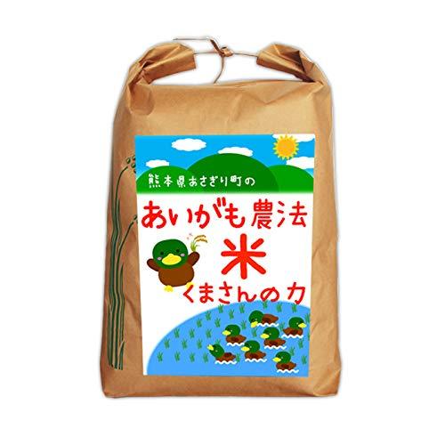 令和2年産 合鴨農法米くまさんの力 5分づき:4.8kg【栽培期間中農薬不使用】【アイガモ】【熊本県産】