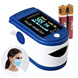 Oxygen Saturation Monitor GENERISE Pulse Oximeter for Adults & Children - Blood Oxygen Monitor with Large Clear OLED Display -