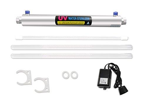 BAOSHISHAN Sistema de desinfección UV 0.5 GPM Esterilizador UV para purificación de agua 1\2-pulgadas 110\220V