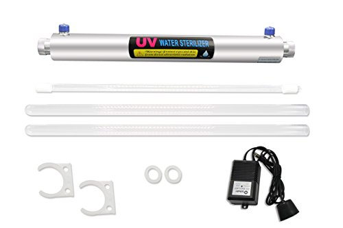 BAOSHISHAN Sistema de desinfección UV 1 GPM Esterilizador UV para purificación de agua 1\2 pulgadas 110\220V