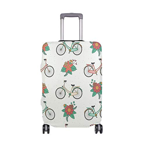 ALINLO - Funda para Maleta de Bicicleta, diseño de Patten Floral, para...