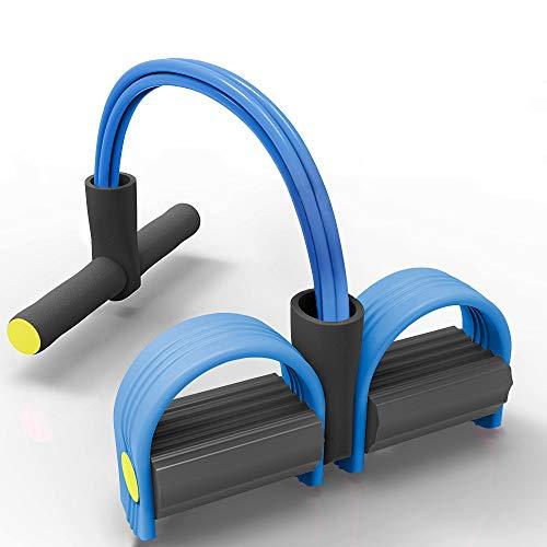 GANZTON Multifunktional Sit-Up-Gymnastik-Seil Tragbarer Beintrainer Bauchtrainer Fitness Bodybuilding Expander mit 4 Tuben für Yoga Fitness Training Blau