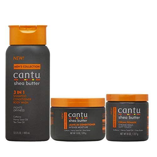 Cantu Men's Hair Care 3-piece Set (3 in 1 /Leave-In Conditioner/Cream Pomade)