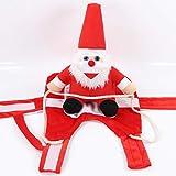 LAOZI Disfraz de Perro de Navidad Ropa para Mascotas Vestido de Equipo de equitación de Papá Noel Divertido Disfraz de Navidad para Perros y Gatos, Papá Noel