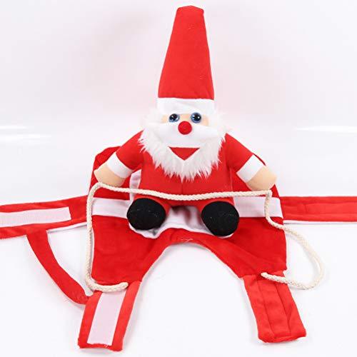 Kerstmuts voor huisdieren Kerstmis hondenkostuum hondenkleding Kerstmis grappige kerstman rijdende uitrusting jurk rollenspel Cosplay kostuum