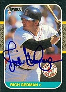 Rich Gedman autographed Baseball Card (Boston Red Sox) 1987 Donruss #153 - Autographed Baseball Cards