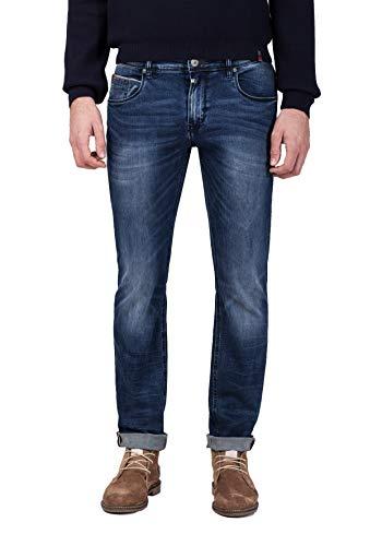 Timezone Herren Slim ScottTZ Skinny Jeans, Blau (Dirty Edge Wash 3330), W36/L32 (Herstellergröße: 36/32)