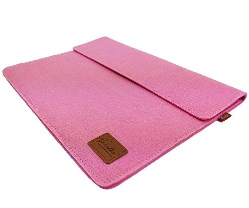 Venetto 13,3 Zoll Macbook Air/ Pro Retina /12,9 Zoll iPad Pro, Microsoft Surface, Laptop Tasche Filz Sleeve Hülle Ultrabook cover (Pink)