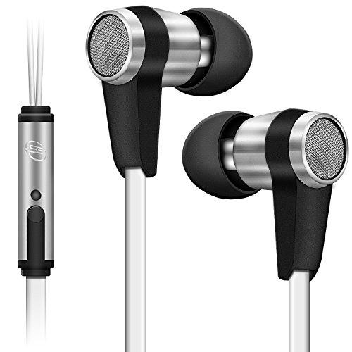 deleyCON SOUNDSTERS S20-M In-Ear Kopfhörer Headset Orhörer mit Mikrofon 3,5mm Klinken Stecker 90° gewinkelt hochwertige Sound- und Sprachqualität - Weiß