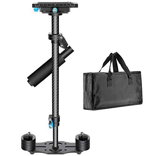 """Neewer Stabilisateur Manuel 60cm en Fibre de Carbone avec système de dégagement Rapide ¼3/8"""" pour Canon Nikon Sony et Autres caméras DSLR vidéo DV jusqu'à 3kg (Noir)"""