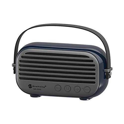 qiyan Altavoz Bluetooth Inalámbrico HiFi Súper Bajo HD Sonido Subwoofer Estéreo Portátil al Aire Libre Soporte para Manos Libres TF FM Aux USB Reproductor de Mp3 en Altavoces portátiles de Color Azul